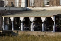 Patio at Historic Rice Mill I Designed by Engaging Events I Charleston SC Wedding Planner