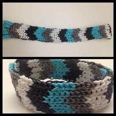 Chevron Rainbow Loom bracelet. My favorite one so far!