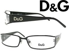 New Dolce and Gabbana Eyeglasses D&G 5010 Blakc 064 Auth 52mm #DolceandGabbanaDG #Rectangular