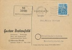 Schwerin Gustav Brekenfeld Lubeckerstrasse nach Joh. Willy Dietze Dresden-Loschwitz