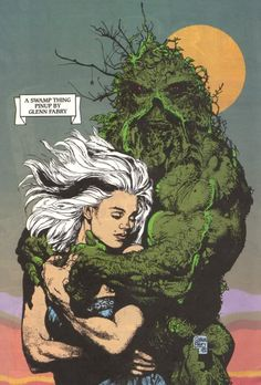 Swamp Thing and Abby Holland by Glenn Fabry
