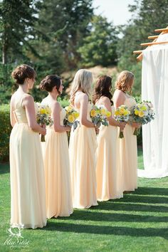 Lovely bridesmaid dresses idea; Blue Rose Photography