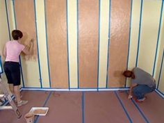How to Paint Striped Walls for a Contrast of Color | how-tos | DIY