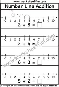 Number Line Addition – 3 Worksheets | Math Worksheets | Pinterest ...