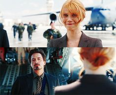 Is it bad how much I fangirl over their relationship?❤️❤️ Pepper and Tony Ironman 1