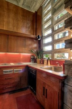This is a Frank Lloyd Wright home built in 1955.  The W.B. Tracy House is located at 18971 Edgecliff Drive SW and sits on 100 feet of waterfront property on Puget Sound.