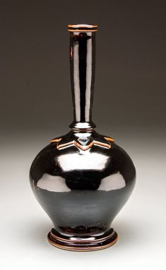 Stoneware bottle by Seth Green, Morehead, KY. $185. Seth Green, Exhibit, Tabletop, Stoneware, Pottery, Shapes, Ceramics, Bottle, Ceramica