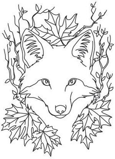 38 Best Ideas For Wood Carving Patterns Templates Urban Threads Embroidery Designs, Paper Embroidery, Embroidery Fabric, Embroidery Tattoo, Flower Embroidery, Embroidery Stitches, Fox Coloring Page, Colouring Pages, Coloring Books