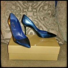 Sergio Rossi Blue Patent Leather Heels 39.5! Sale