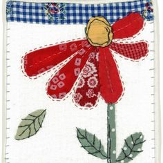 Morning all! Applique Stitches, Hand Applique, Applique Embroidery Designs, Wool Applique, Applique Patterns, Free Motion Embroidery, Hand Embroidery, Machine Embroidery, Fabric Cards