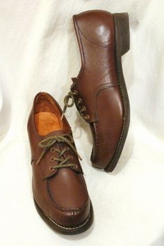DEAD STOCK 40'S~ LASSIE OXFORD SHOES (BRN)の画像