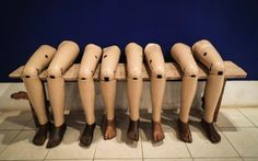 Prosthetic legson display at the Cooperative Orthotic and Prosthetic…