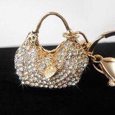 Silver Handbag Rhinestone Keychain Purse Charm Bling Keychain Women's Crystal Handbag CharmBling Car Decor Fashion Handbag Accessory #Etsy #Share #EtsyShop Shared by #BaliTribalJewelry http://etsy.me/1sDZ302