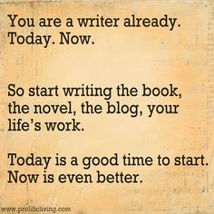 This could not be more true. Today. Stop talking about it, start doing it. #writer #entrepreneur #blogger