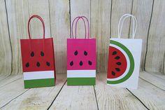 Watermelon Favor Bags Tutti Fruity Party Bags/Goodie Bags/Birthday bags/Watermelon Birthday One in A Melon Treat Bags Thanks A Melon/Summer