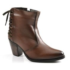 Bota Cano Baixo Lady Satt - Brown