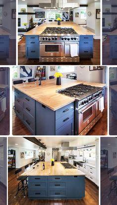 This customer designed her entire kitchen around her BlueStar Platinum Series Range! ❤️ #BlueStarCooking #Ral #750Colors