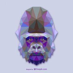 Projeto triângulo gorila Vetor grátis