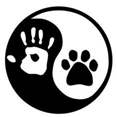 Animal Lover Yin And Yang Cat Dog Footprints Vinyl Decals Hand Logo, Cat Paws, Logo Sticker, Dog Tattoos, Yin Yang, Dog Art, Painted Rocks, Vinyl Decals, Car Decal