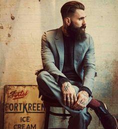Ricki Hall @RickiFuckinHall #beard #tattoo