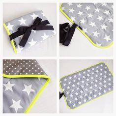 SOFT UNITS: Pusleunderlag til tasken - Grå med stjerner