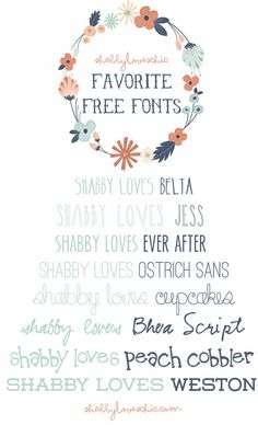 shabby loves FREE fonts