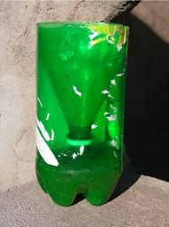 No more mosquitos!! Cut the top off a 2 liter bottle. Invert the cone and place it inside the straight part of the bottle. Glue the two pieces together. Add 1 tsp yeast and 1/2 cup sugar to some luke warm water, and pour the mixture into the bottle. Mosquitoes are attracted to the carbon dioxide that you exhale. The yeast feeds off the sugar and emits the same gas, so the mosquito enters the bottle, thinking she will find food there.