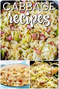 The Best Cabbage Recipes are going to be your new favorites! They are the perfect side dish to any dinner and trust me when I say that there will be no leftovers. Side Dish Recipes, Vegetable Recipes, Low Carb Recipes, Cooking Recipes, Healthy Recipes, Frugal Recipes, Cooking Ideas, Vegetarian Recipes, Healthy Food