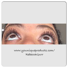 These are my lashes. I love the results I get from my 3D fibre lash mascara. Get yours here: www.youniqueproducts.com/RebeccaGurr