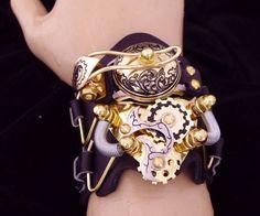 Steampunk Flip-Top Watch Cuffs   DudeIWantThat.com