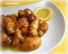 Pollo al limón (Estilo chino) con Thermomix Pollo Chicken, Chicken Wings, Tapas, Kitchen Dishes, Meat Lovers, Arroz Frito, Chicken Recipes, Food Porn, Easy Meals