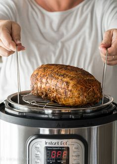 Use the rack to keep your turkey breast out of the liquid underneath in the Instant Pot. Use the rack to keep your turkey breast out of the liquid underneath in the Instant Pot. Boneless Turkey Roast, Boneless Turkey Breast Recipe, Instant Pot Turkey Breast Recipe, Roast Recipes, Turkey Recipes, Cooking Recipes, Sausage Recipes, Cooking Tips, Turkey Tenderloin Recipes