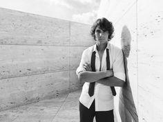 Rafa Nadal posing for Emporio Armani.