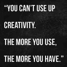just be creative...