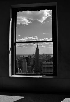 this view would be rawther lovely in my opinion ! Wouldn't mind waking up to that every morning : ) New York Photography, Looking Out The Window, What The World, Through The Window, Back Doors, City Lights, City Life, Empire State Building, Windows