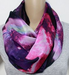 Pink Galaxy Infinity Scarf Cute Star Pattern Scarf Soft Fall Scarf Blue Scarf Milkway Infinity Scarf on Etsy, $32.80 CAD