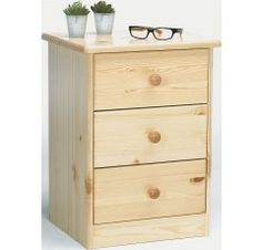 The Steens Mario 3 Drawer Bedside is a practical chest of drawers from the bedroom furniture specialist, Steens. The Steens Mario 3 Drawer Bedside is made from solid pine with a natural lacquer finish and features three drawers for ample storage space. 3 Drawer Bedside Table, Bedside Cabinet, Dresser As Nightstand, Bedside Tables, Storage Bins, Storage Spaces, Storage Chest, Home Decor Furniture, Bedroom Furniture
