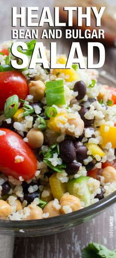 If you haven't tried BULGUR before, this salad is a great place to start.