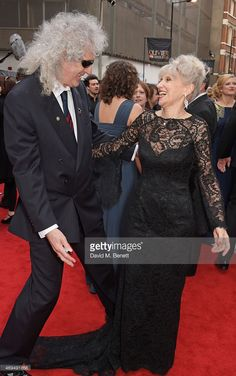 LONDON, ENGLAND - APRIL 12: Brian May (L) and Anita Dobson attend The Olivier Awards at The Royal Opera House on April 12, 2015 in London, England. (Photo by David M. Benett/Getty Images) Credit: David M. Benett / contributor