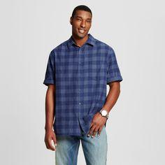 Men's Big & Tall Button Down Short Sleeve Shirt Mossimo Supply Co. - Navy (Blue) 3XBT, Size: 3XB Tall
