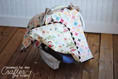 Tied with a Bow Carseat Canopy~Mommy by day Crafter by night~ Cute for my friends w/ new little ones! :)