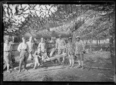 Près de Lampernisse (Belgique), batterie d'artillerie lourde française. Août 1917