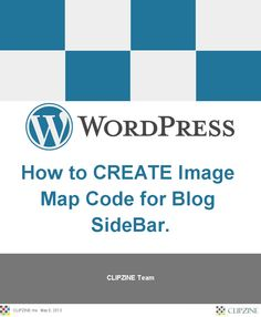 How to CREATE Image Map Code for Blog SideBar.  (5/8/2013)