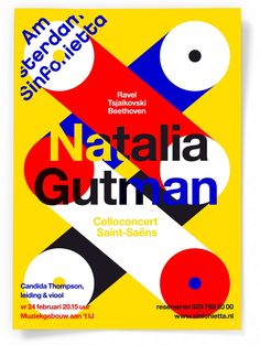 poster for Amsterdam Sinfonietta by Studio Dumbar Typo Poster, Typographic Poster, Web Design, Book Design, Flat Design, Design Poster, Communication Design, Design Graphique, Grafik Design