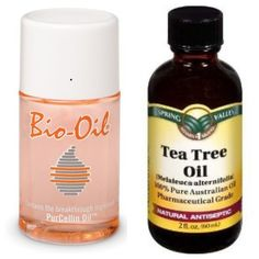 """Attention girls with uneven skin tone, acne, oily skin, dry skin, acne scars, chapped lips, under eye bags, fever blisters, or any skin imperfections: Here is what i consider my cure-all """"night cream""""...One squirt of bio oil mixed with 2 drops of tea tree oil applied to face, lips, & neck before bed... (Do not get in your mouth or eyes!) Try it & you'll fall in love! Both products can be found at CVS, Rite Aid, Walmart, Walgreens etc.:"""