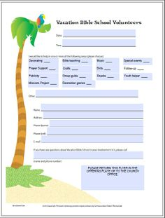 Free Download from Gospel Light of a volunteer recruitment flyer. Great for any jungle themed VBS or summer activity for your children's ministry. Order supplies from www.nsresources.com