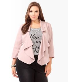 e3ca0803a0df Cute Jacket! Ditch the graphic tee. [Cascading Collared Jacket | FOREVER 21+