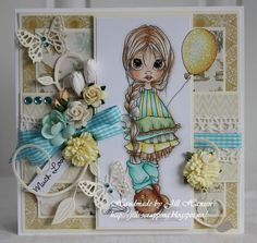 Jills scrappeside: Beautiful colouring by Jill Hansen on this lovely Saturated Canary Image. Love it.