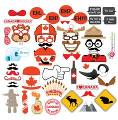 46 Hilarious Canada - Canada Day Photo Booth Props Great for Canadian Themed Parties Canada Day 150, Canada Day Party, Canada Canada, Visit Canada, Family Christmas, Christmas Humor, Canadian Party, Canadian Stereotypes, Canada Day Crafts