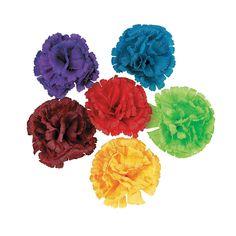 Fiesta Flower Hair Clips - OrientalTrading.com